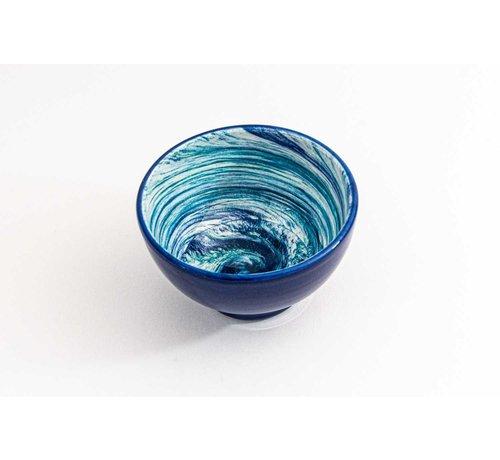 Kom Keramiek Aguas Blauw ∅ 14 cm