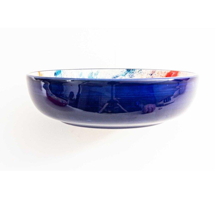 Salad Bowl Ceramic Aguas Blue 23 cm