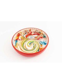Saladeschaal Keramiek Aguas Rood 23 cm