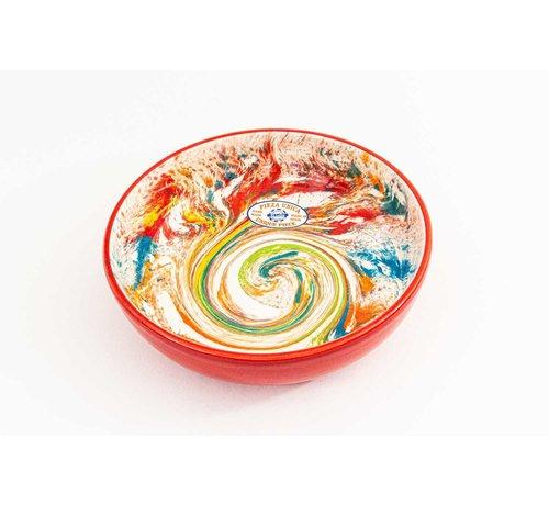 Salad Bowl Ceramic Aguas Red 23 cm