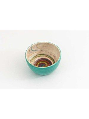 Kom Keramiek Aguas Turquoise ∅ 11 cm