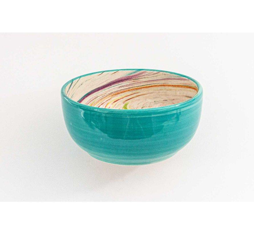 Kom Keramiek Aguas Turquoise ∅ 15 cm