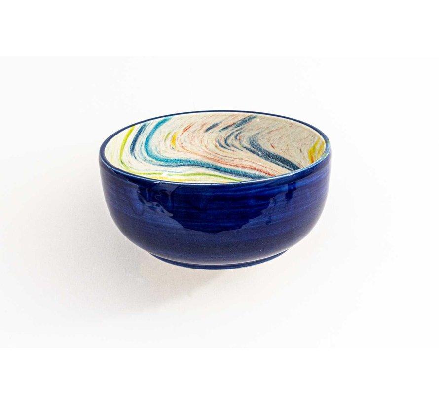 Kom Keramiek Aguas Blauw ∅ 15 cm
