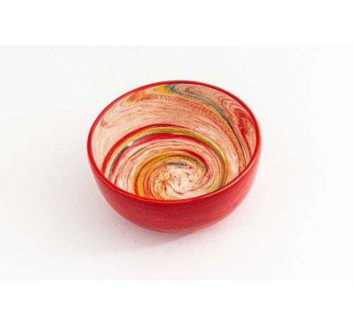 Bowl Ceramic Aguas Red ∅ 15 cm