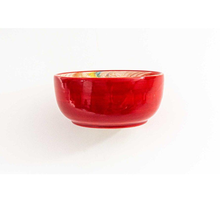 Kom Keramiek Aguas Rood ∅ 15 cm