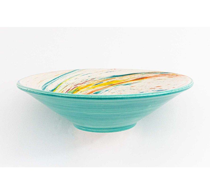 Serving Bowl Ceramic Aguas Turquoise ∅ 24 cm