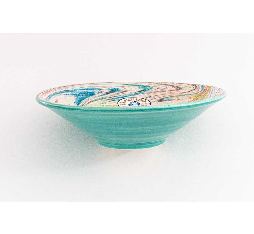 Serveerschaal Keramiek Aguas Turquoise ∅ 24 cm