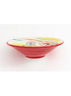 Serving Bowl Ceramic Aguas Red ∅ 24 cm