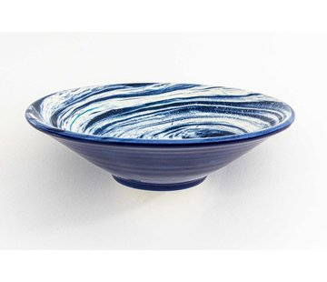 Serveerschaal Keramiek Aguas Blauw ∅ 24 cm