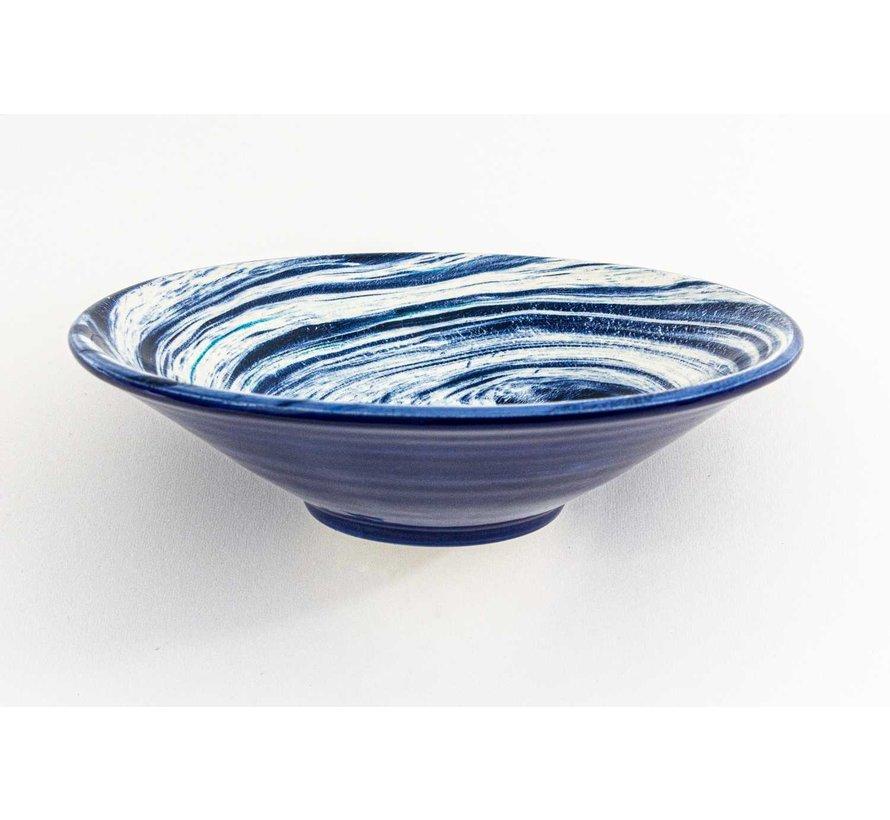 Serving Bowl Ceramic Aguas Blue ∅ 24 cm