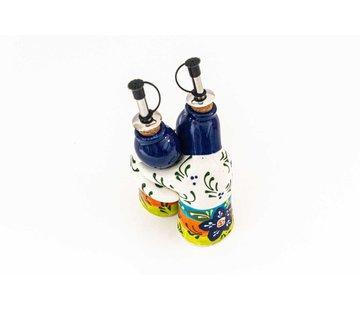 Oil and Vinegar Set Ceramic Majorica - Copy