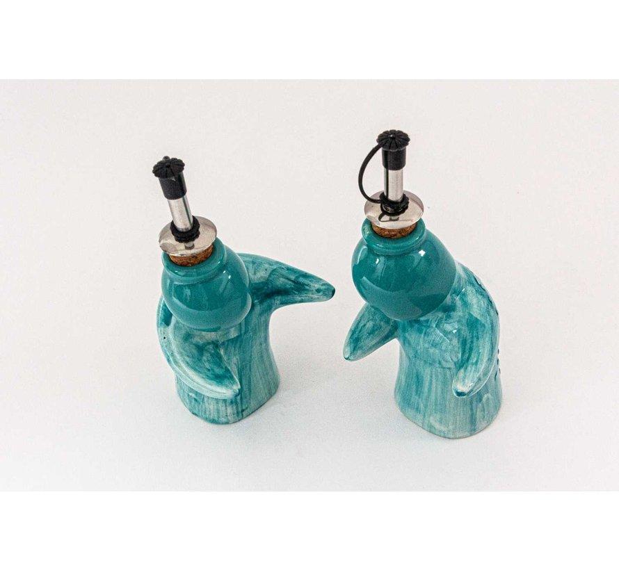 Oil and Vinegar Set Ceramic Majorica