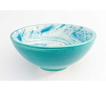 Serving Bowl Ceramic Aguas Turquoise ∅ 28 cm