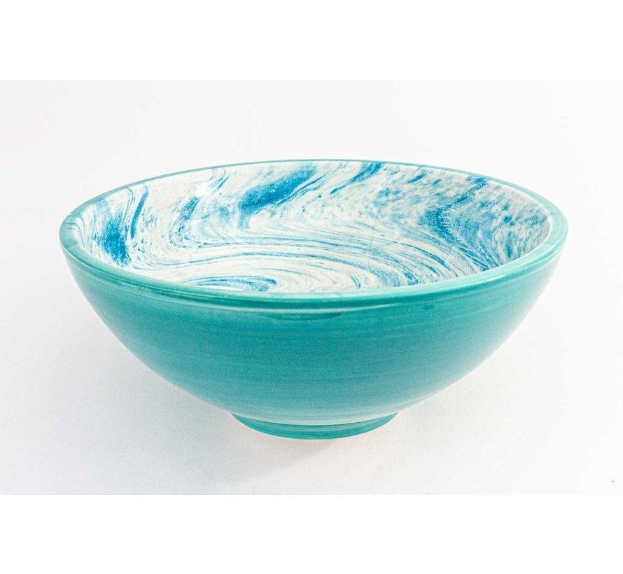 Serveerschaal Keramiek Aguas Turquoise ∅ 28 cm