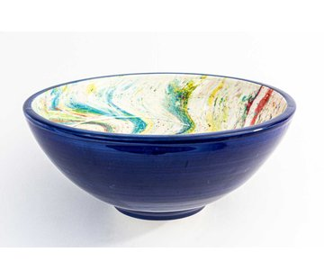 Serving Bowl Ceramic Aguas Blue ∅ 28 cm