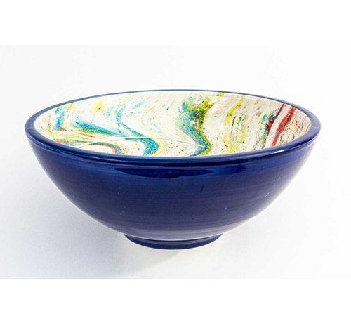 Serveerschaal Keramiek Aguas Blauw ∅ 28 cm