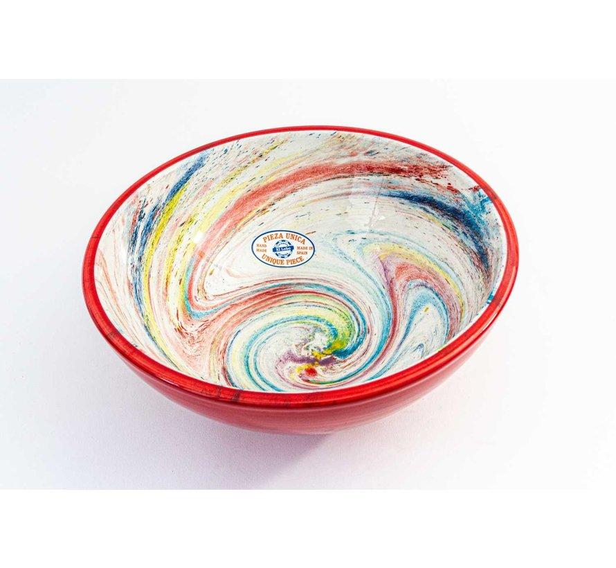 Serving Bowl Ceramic Aguas Red ∅ 28 cm