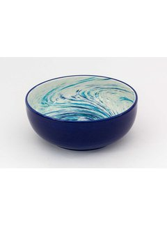 Salad Bowl Ceramic Aguas Blue 24 cm