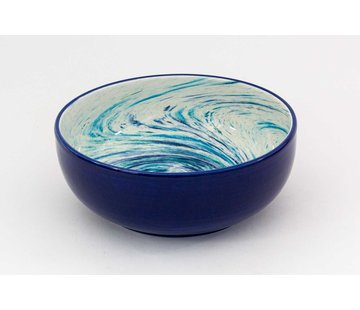Salad Bowl Ceramic Aguas Blue 24 cm