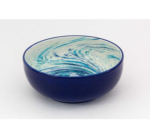 Saladeschaal Keramiek Aguas Blauw 24 cm