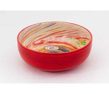 Salad Bowl Ceramic Aguas Red 24 cm