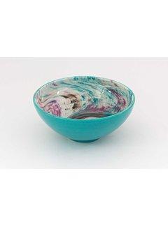 Serveerschaal Keramiek Aguas Turquoise ∅ 22 cm