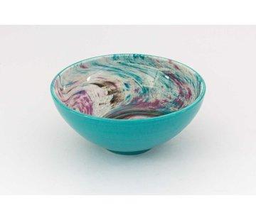 Serving Bowl Ceramic Aguas Turquoise ∅ 22 cm