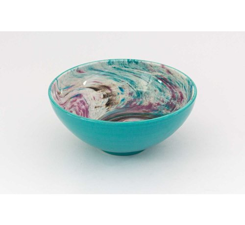 Serving Bowl Ceramic Aguas Turquoise ∅ 22 cm