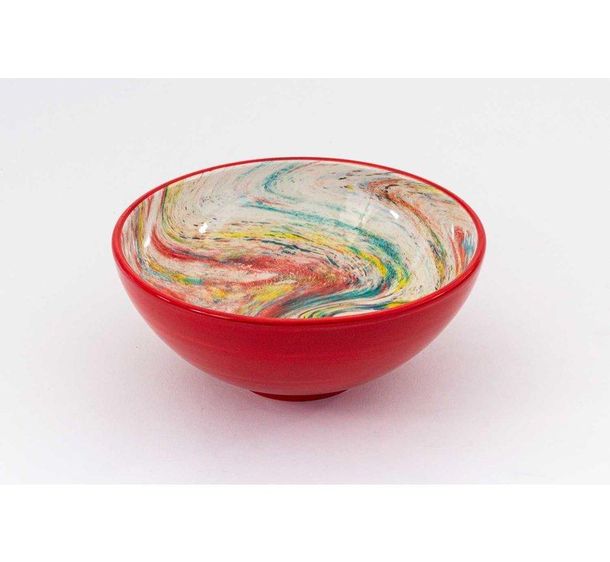 Serving Bowl Ceramic Aguas Red ∅ 22 cm