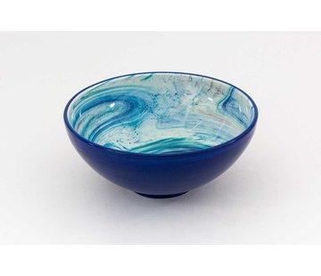 Serveerschaal Keramiek Aguas Blauw ∅ 22 cm