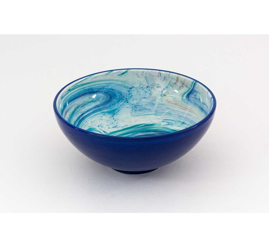 Serving Bowl Ceramic Aguas Blue ∅ 22 cm