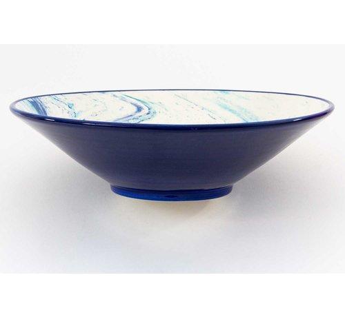 Serveerschaal Keramiek Aguas Blauw ∅ 38 cm