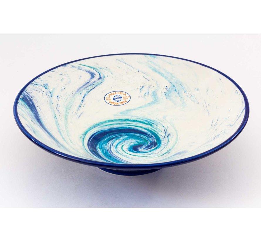 Serving Bowl Ceramic Aguas Blue ∅ 38 cm