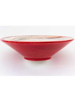 Serving Bowl Ceramic Aguas Red ∅ 38 cm