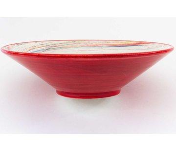 Serveerschaal Keramiek Aguas Rood ∅ 38 cm