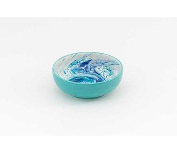 Salad Bowl Ceramic Aguas Turquoise 15 cm