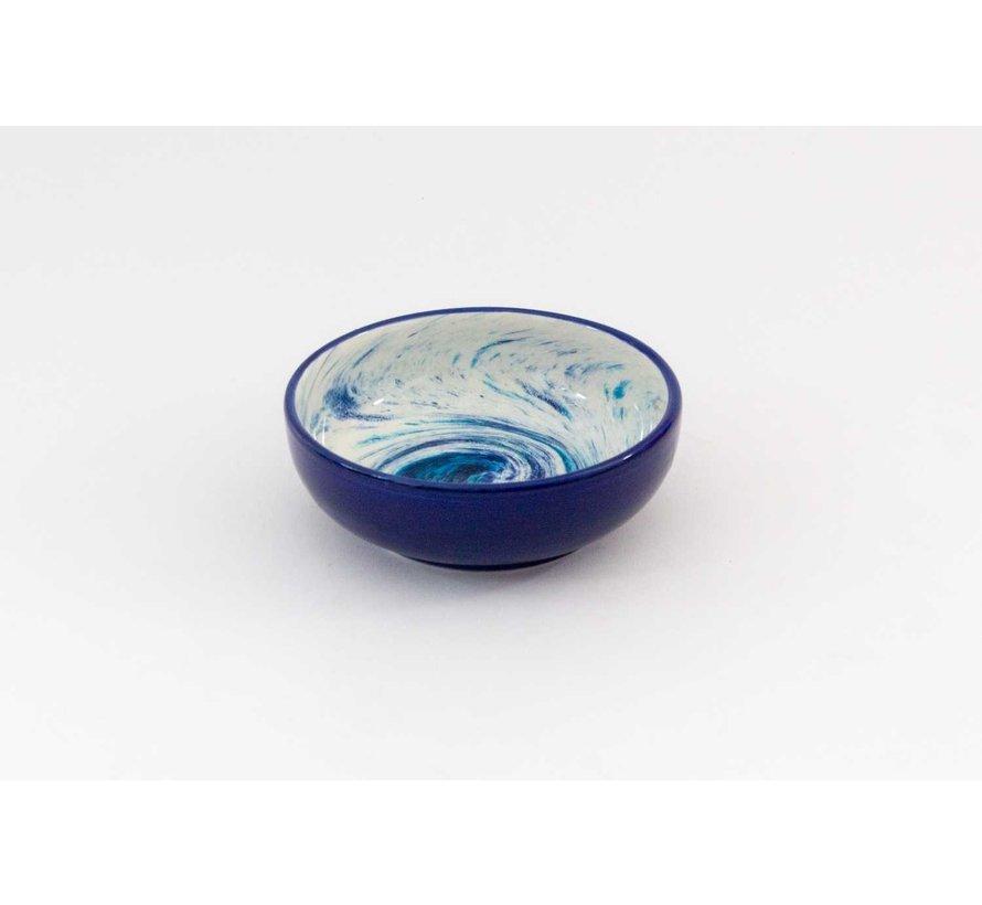 Salad Bowl Ceramic Aguas Blue 15 cm
