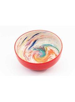 Salad Bowl Ceramic Aguas Red 28 cm