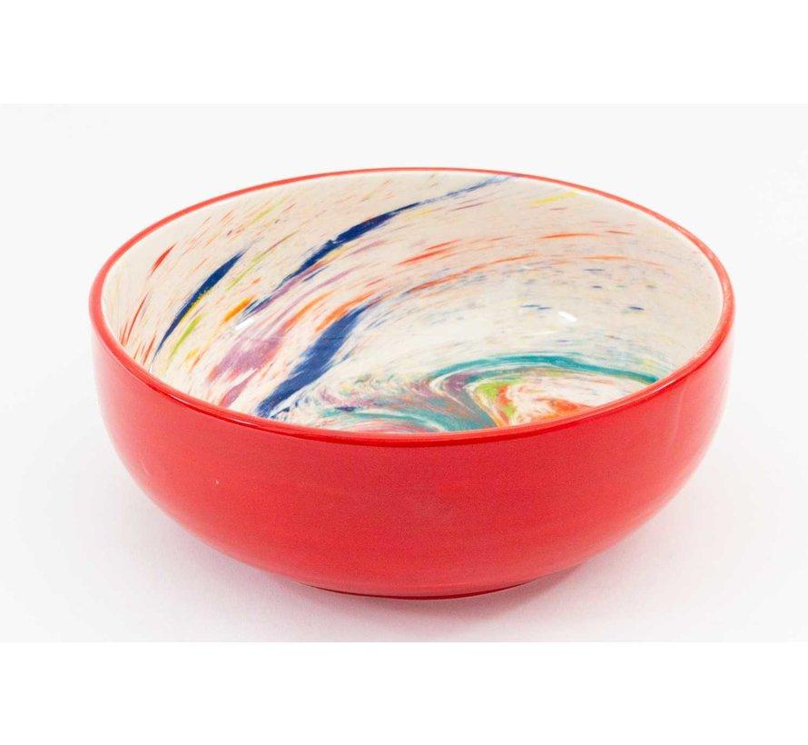 Saladeschaal Keramiek Aguas Rood 28 cm