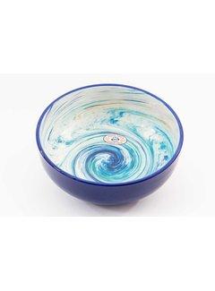 Salad Bowl Ceramic Aguas Blue 28 cm