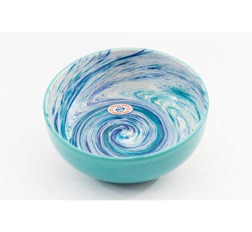 Salad Bowl Ceramic Aguas Turquoise 28 cm