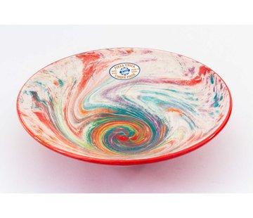 Serving Bowl Ceramic Aguas Red ∅ 30 cm