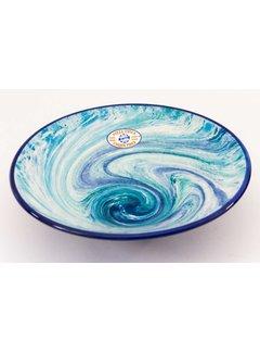 Serveerschaal Keramiek Aguas Blauw ∅ 30 cm