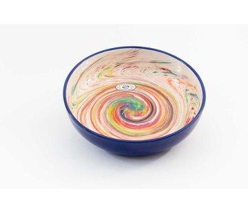 Salad Bowl Ceramic Aguas Blue 31 cm