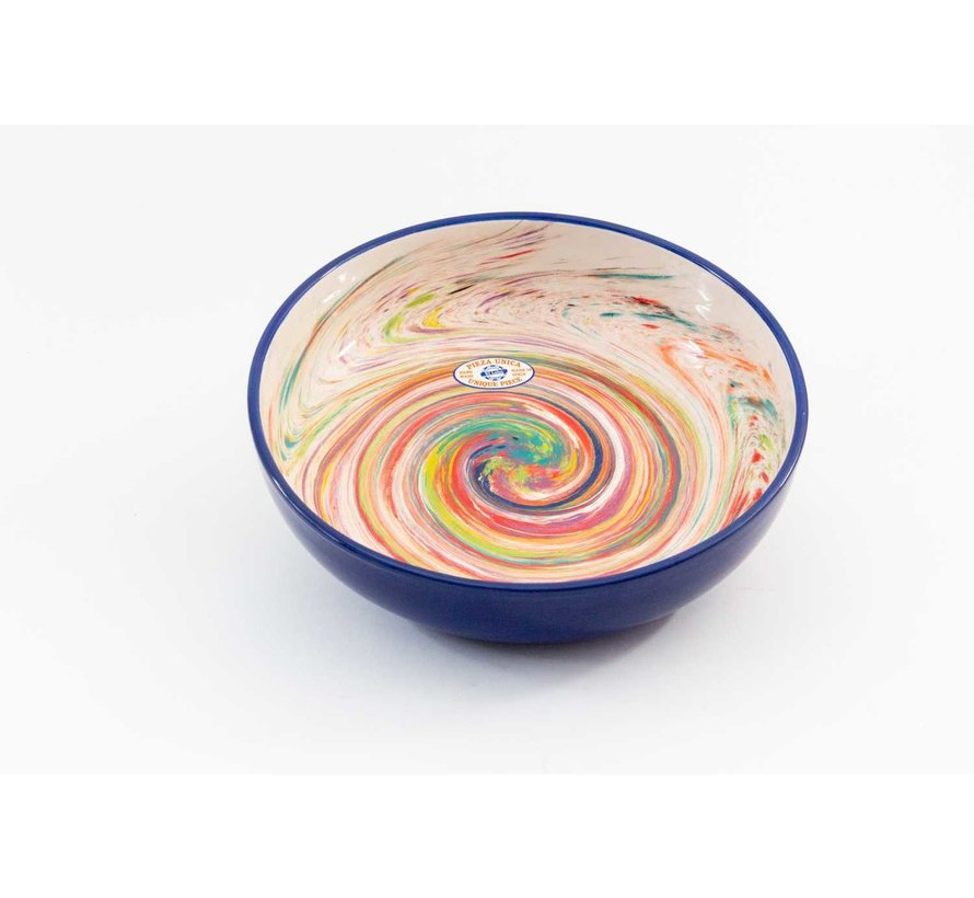 Salad Bowl Ceramic Aguas Blue 31 cm
