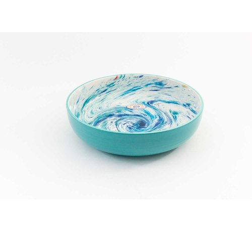 Salad Bowl Ceramic Aguas Turquoise 31 cm