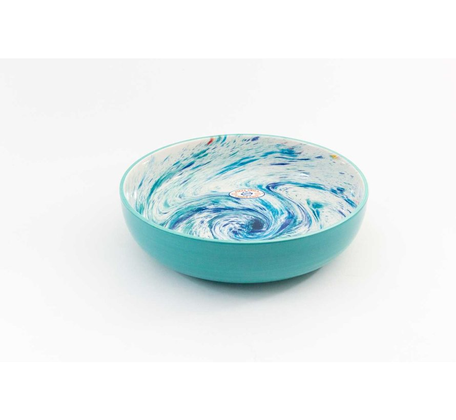 Salad Bowl Ceramic Aguas Turquoise 31 cm