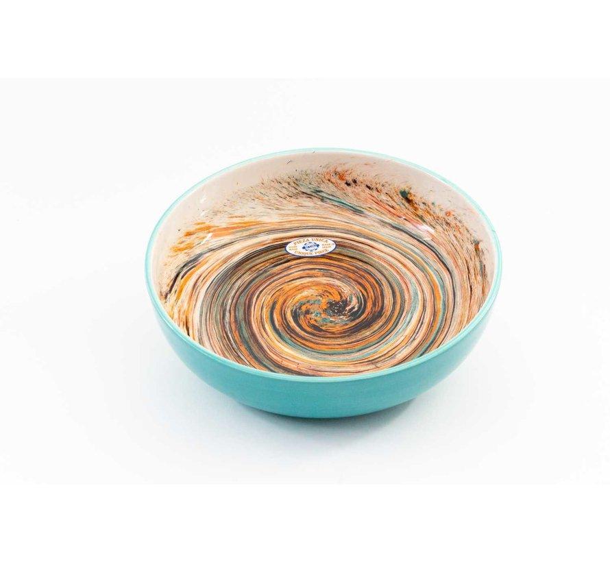 Saladeschaal Keramiek Aguas Turquoise 31 cm