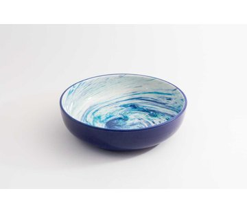 Salad Bowl Ceramic Aguas Blue 27 cm