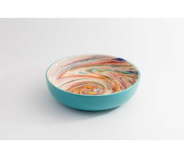 Salad Bowl Ceramic Aguas Turquoise 27 cm